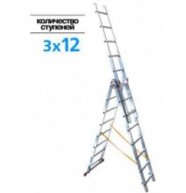 Лестница 3-х секц.3х12 ступ. 97822