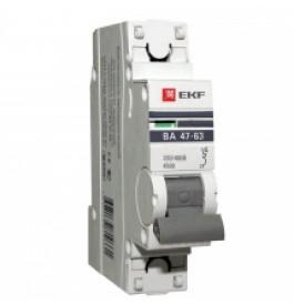 Автоматический выключатель  1П 16А EKF  4,5kA ВА 47-63 PROxima