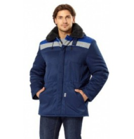 Куртка утепленная БРИГАДА, размер 60-62, рост 170-176, цвет синий